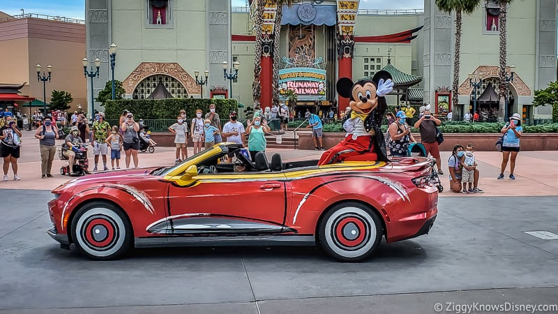 Mickey Mouse Character Motorcade in Hollywood Studios
