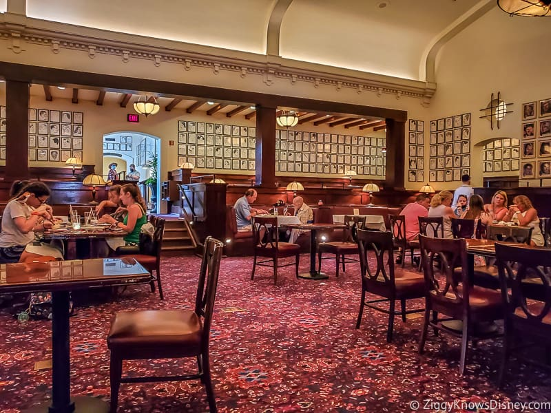 Hollywood Brown Derby with distanced tables