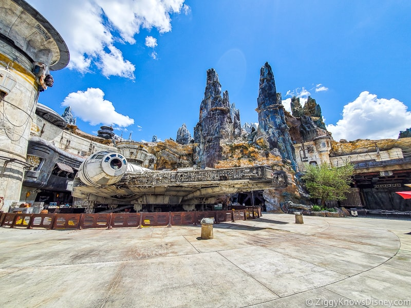 Empty Galaxy's Edge in Disney's Hollywood Studios Reopening