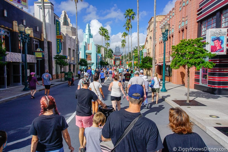 Crowds on Hollywood Boulevard in Hollywood Studios