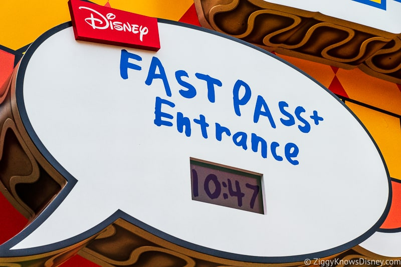 FastPass+ sign for Toy Story Mania!