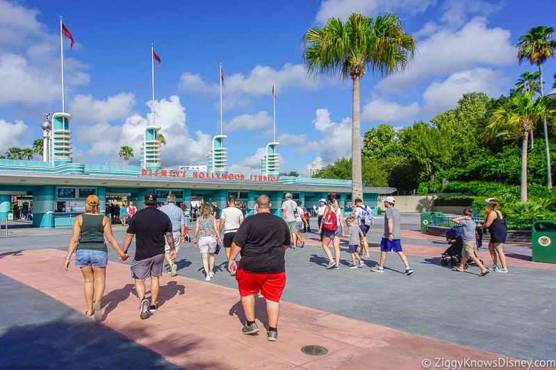 walking to the entrance of Disney's Hollywood Studios