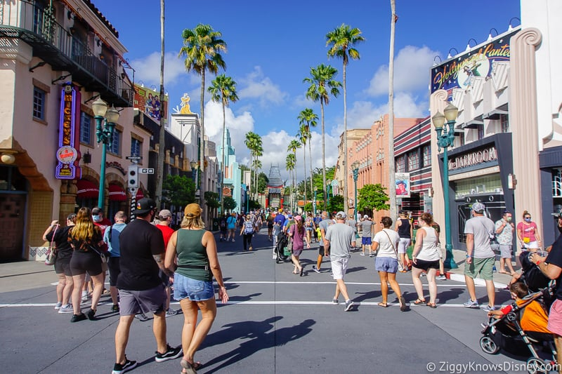 Crowd Levels in Disney's Hollywood Studios after Reopening