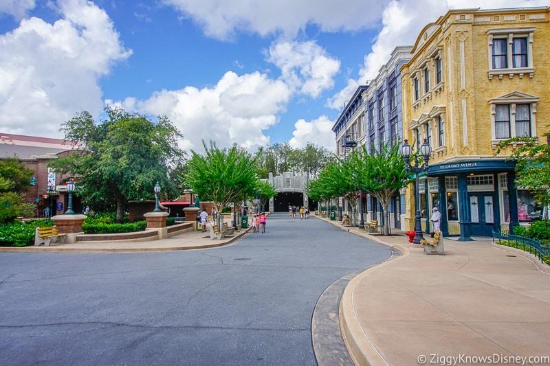 Empty Grand Avenue Hollywood Studios