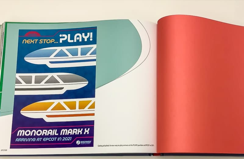 Last page of Disney Monorail book with Play Pavilion concept art