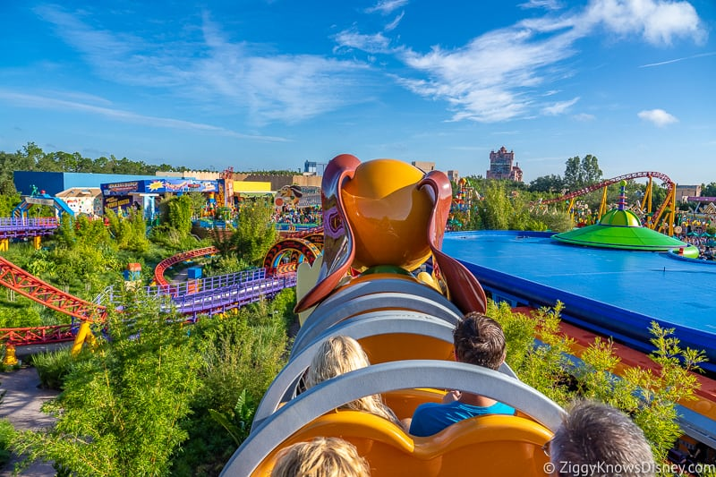 riding Slinky Dog Dash in Toy Story Land
