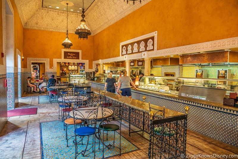 inside the Tangierine Cafe EPCOT