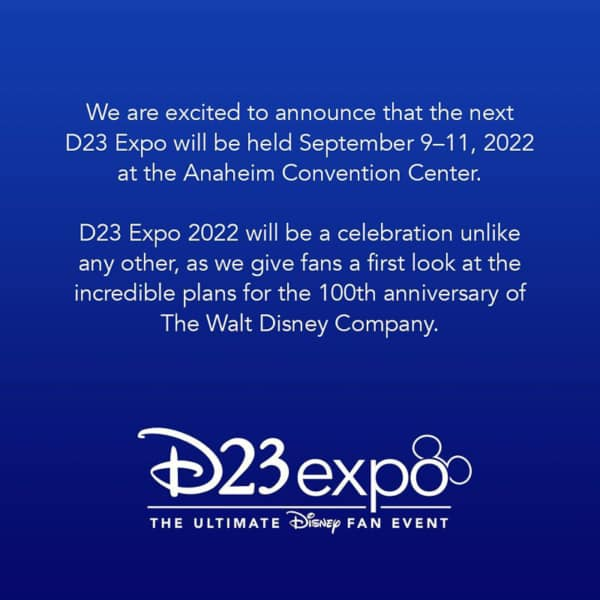 D23 Expo postponed until 2022