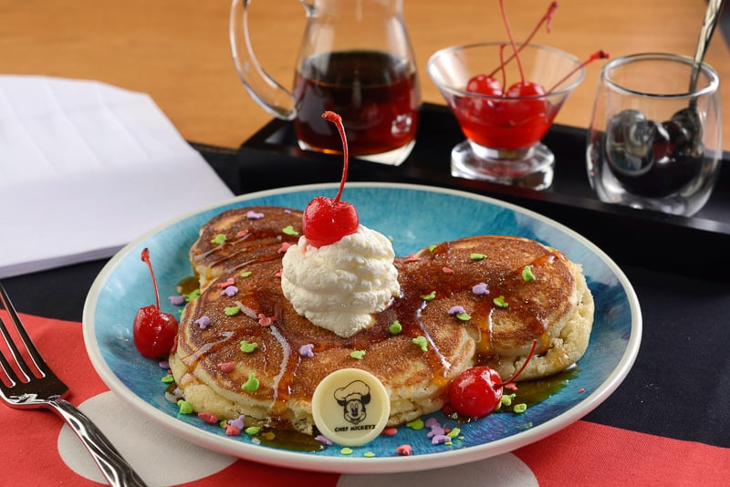 Mickey Pancakes at Chef Mickey's