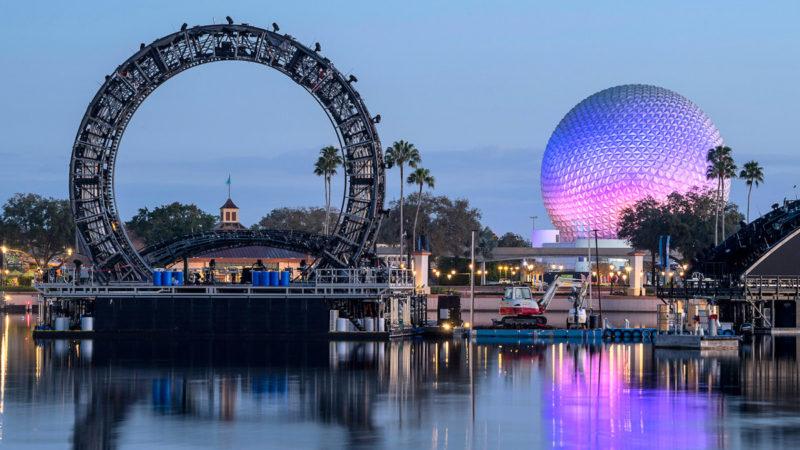 Disney Harmonious fireworks show barges