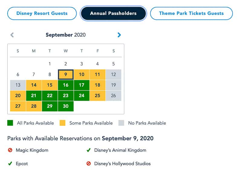 Disney Park Pass Reservations Magic Kingdom Annual Passholders
