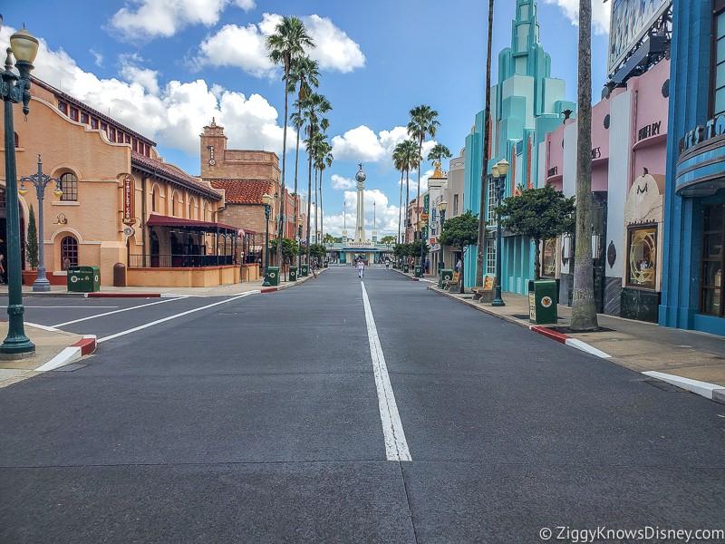 Empty Hollywood Blvd Hollywood Studios