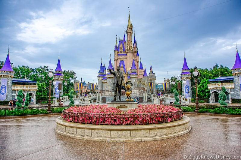 In front of Cinderella Castle after reopening