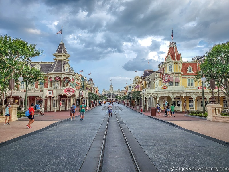 Empty Main Street USA Magic Kingdom