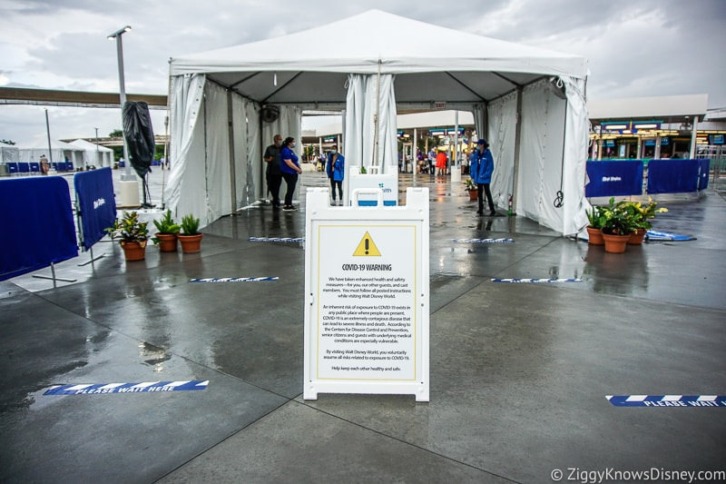 Temperature Screening tent Ticket and Transportation Center