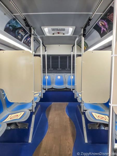 Inside Disney World buses after reopening