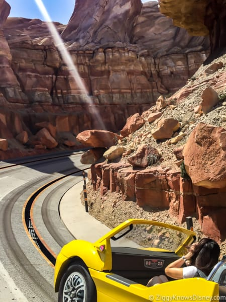 Riding Radiator Springs Racers