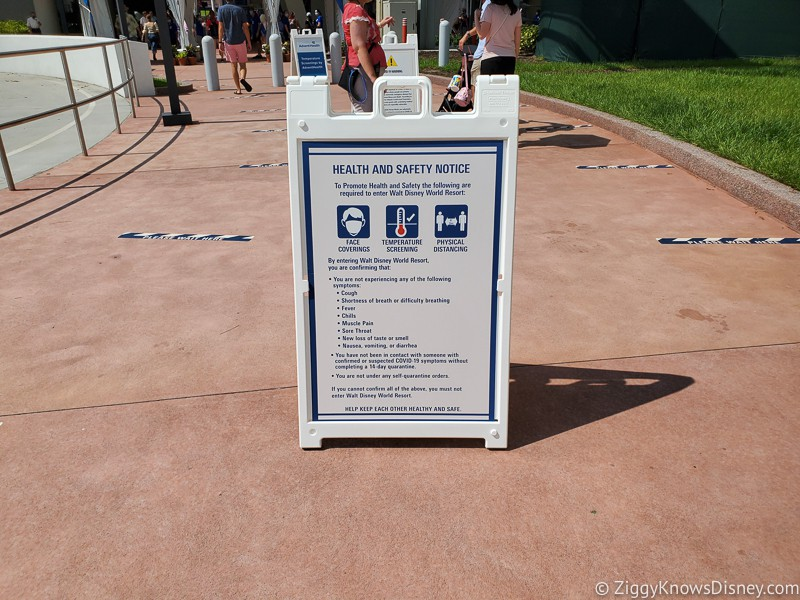 Disney park safety signs