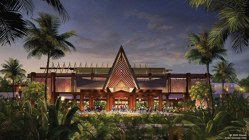 Disney's Polynesian Village Resort refurbishment concept art