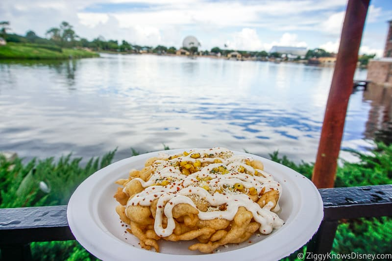 Street Corn Funnel Cake EPCOT Food and Wine Festival Snacks