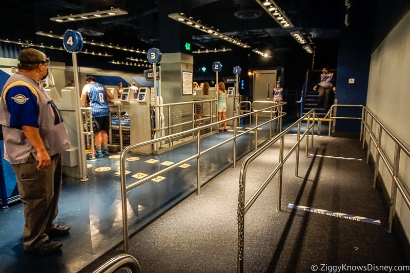 loading area in Test Track queue