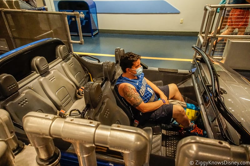 Test Track ride vehicle after reopening