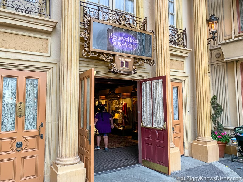 Beauty and the Beast Sing-Along entrance France EPCOT
