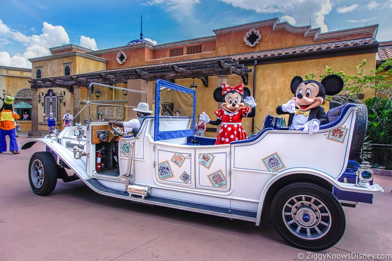 Mickey and Minnie Character Cavalcade in EPCOT