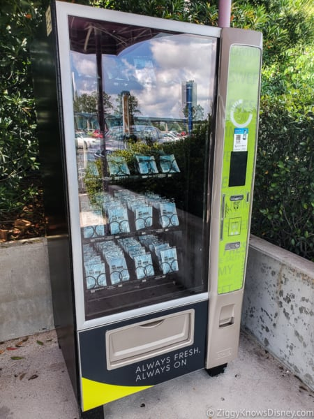 Face Mask machine in EPCOT Parking Lot