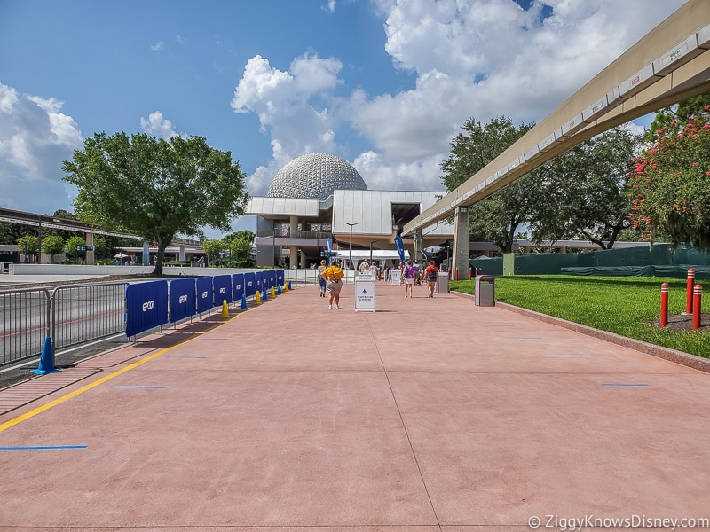 Walking up to EPCOT