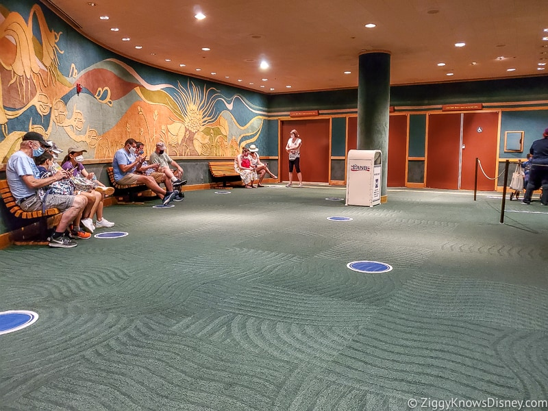 Waiting area for Awesome Planet EPCOT