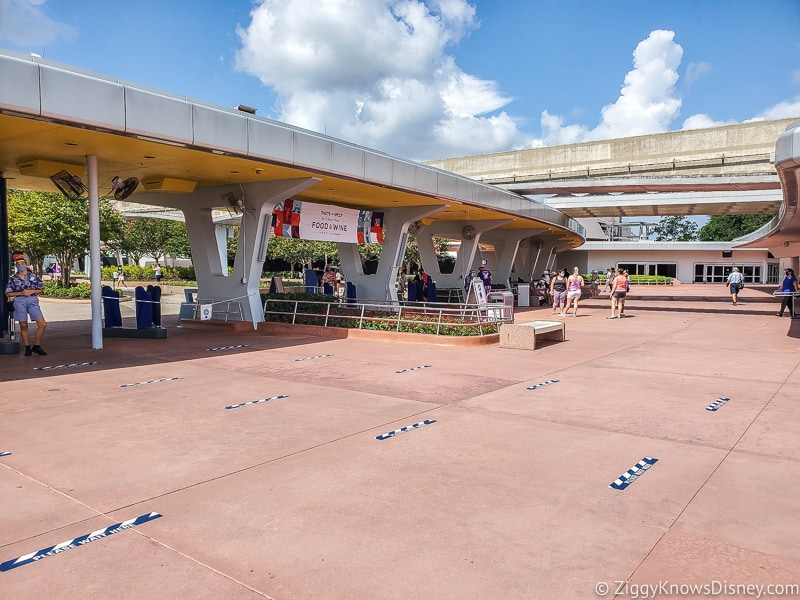EPCOT turnstiles after reopening