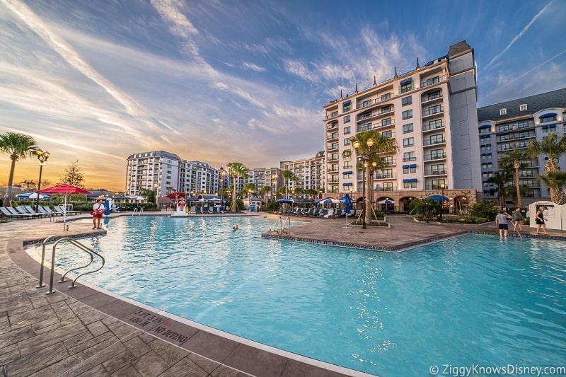 Disney's Riviera Resort Pool at sunset