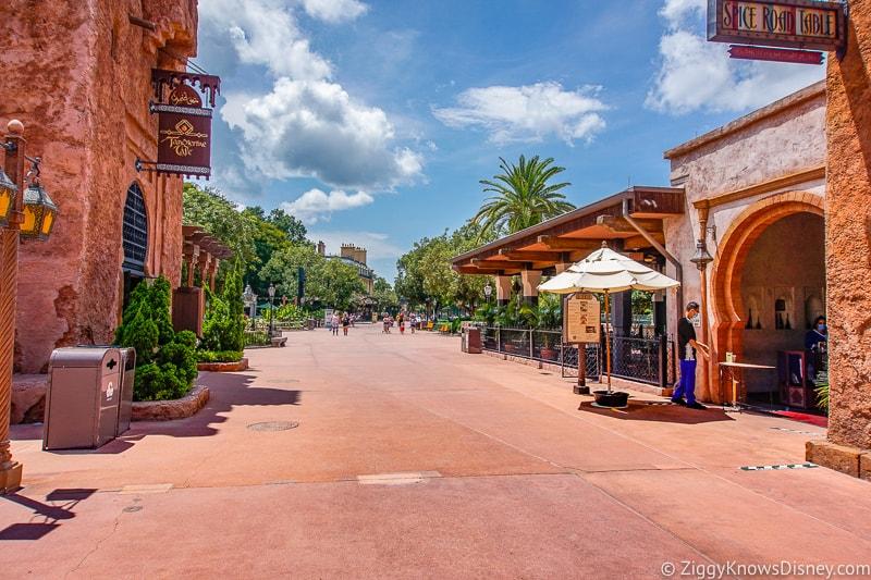 Empty Morocco pavilion EPCOT