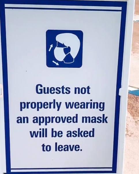 guests must wear face masks in Disney World or leave