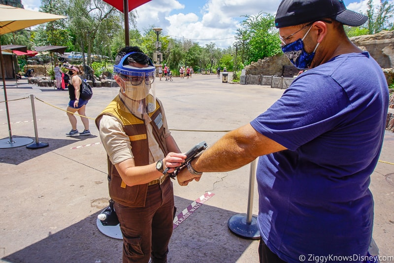 Cast Member wearing face shield