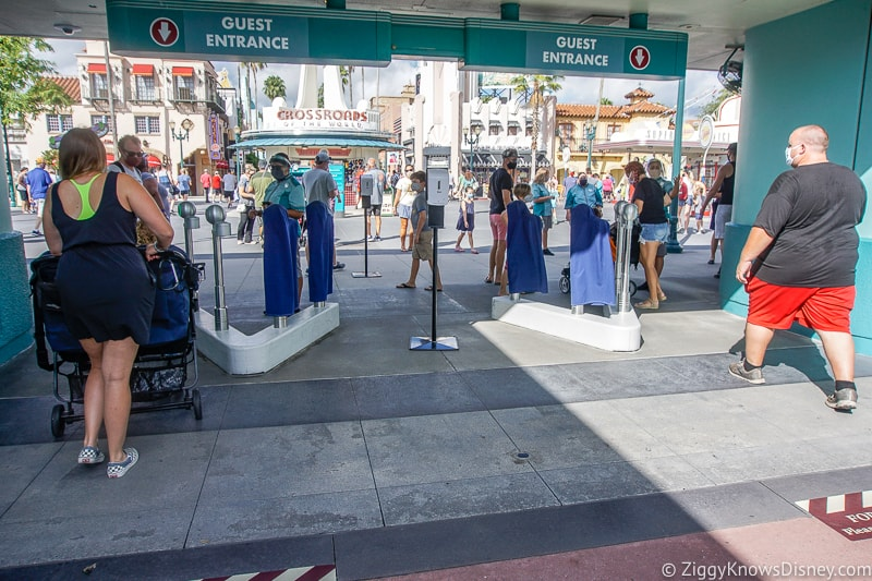 guests going through the turnstiles at Hollywood Studios