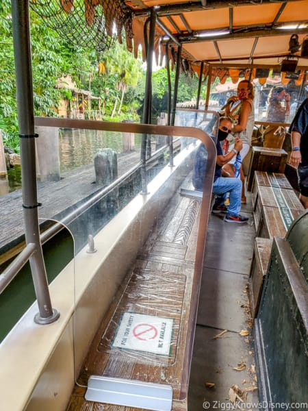 Jungle Cruise plexiglass barriers Magic Kingdom reopening