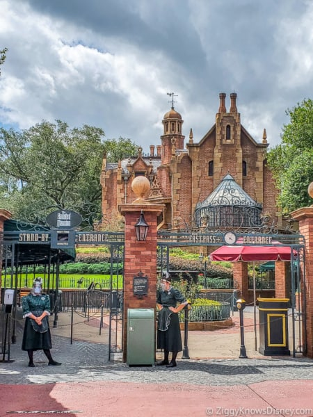 Haunted Mansion entrance outside Magic Kingdom reopening