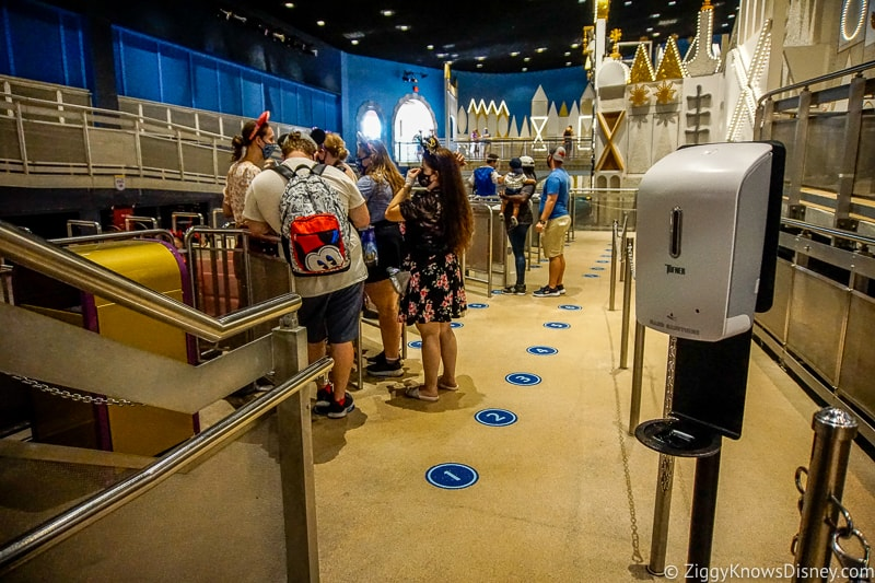 It's a Small World loading area queue Magic Kingdom reopening