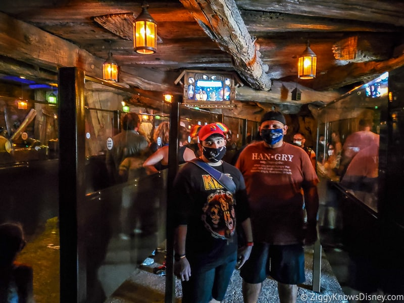 Inside queue for Seven Dwarfs Mine Train Magic Kingdom