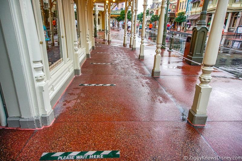 queue outside shops on Main Street U.S.A Magic Kingdom