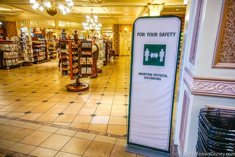 safety sign inside shops on Main Street U.S.A Magic Kingdom