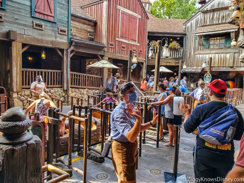 Splash Mountain loading area Magic Kingdom after reopening
