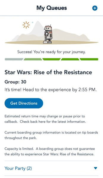 group 30 in Rise of the Resistance virtual queue