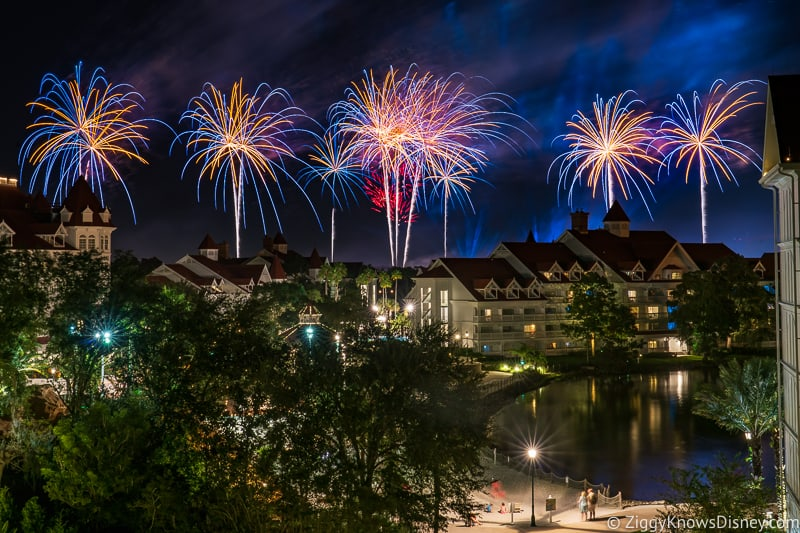 Fireworks from Grand Floridian Resort
