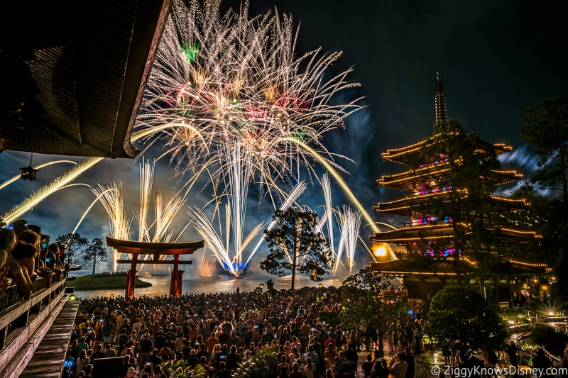 EPCOT Fireworks from Japan Pavilion