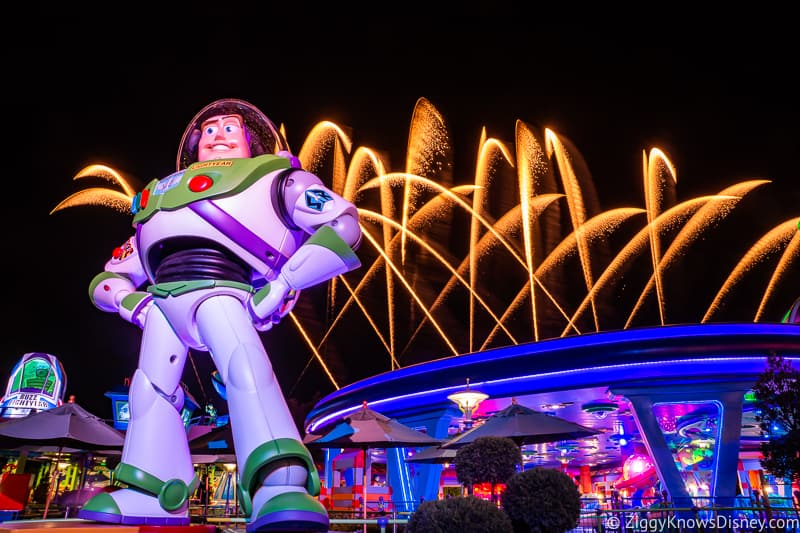 Hollywood Studios Fireworks in Toy Story Land