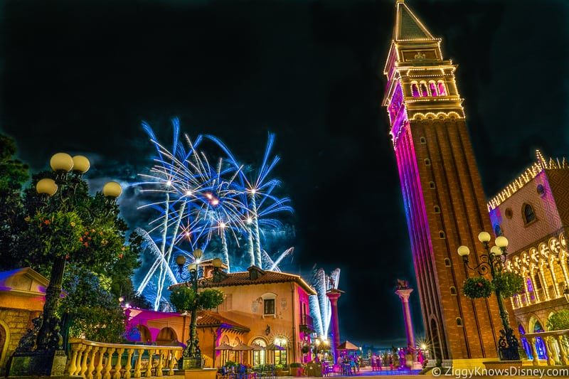 EPCOT Fireworks from Italy Pavilion