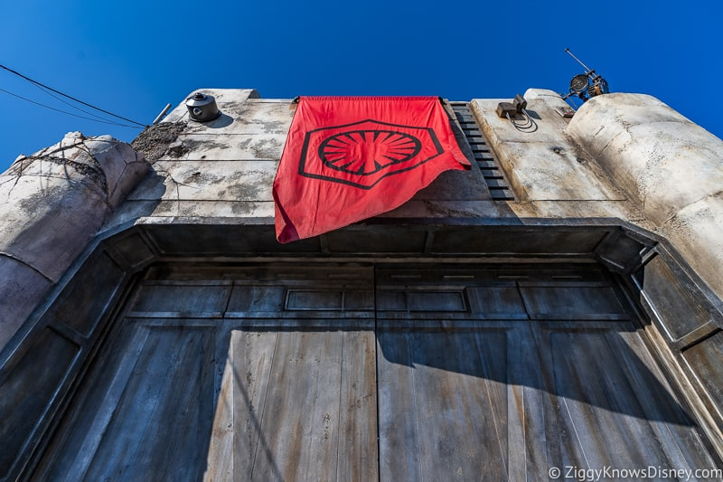 First Order Banner Galaxy's Edge Disneyland